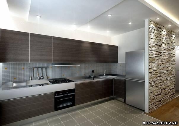 Дизайн кухни прямой 4 метра