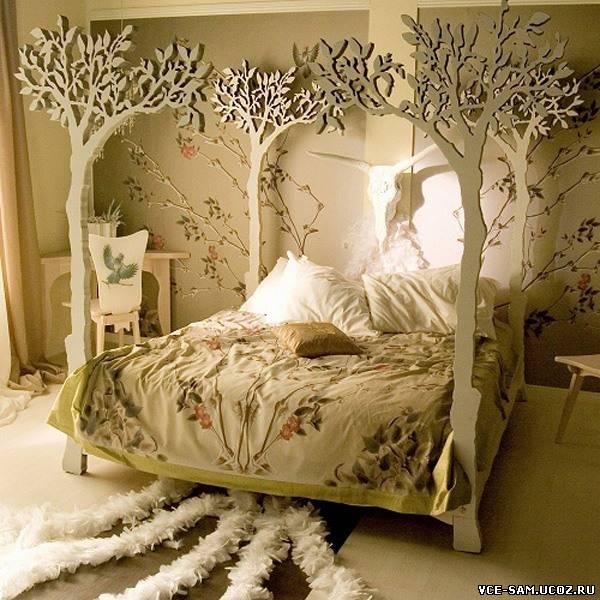 Кровать своими руками из фанеры фото