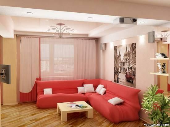 дизайн гостиной в стиле прованс.